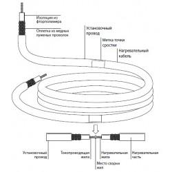 Безмуфтовая нагревательная секция на основе кабеля ТМФ