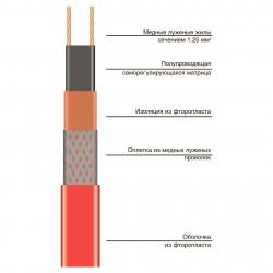 Саморегулирующаяся нагревательная лента Heatline 15HLS2-CF