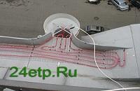Прокладка кабеля по водосточной системе
