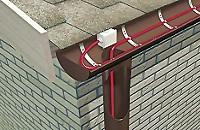 Обогрев водостоков нагревательным кабелем